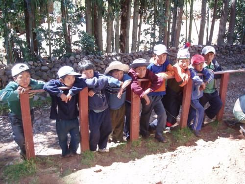 Boys at Isla Amantani Peru