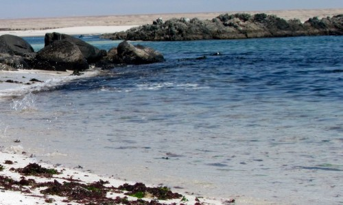 The English Bay, Bahia Inglesa,Saeside Chile,Quiet towns in Chile, the water of Bahia Inglesa